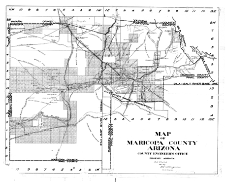 Historic Arizona County Road Maps - Arizona Memory Project