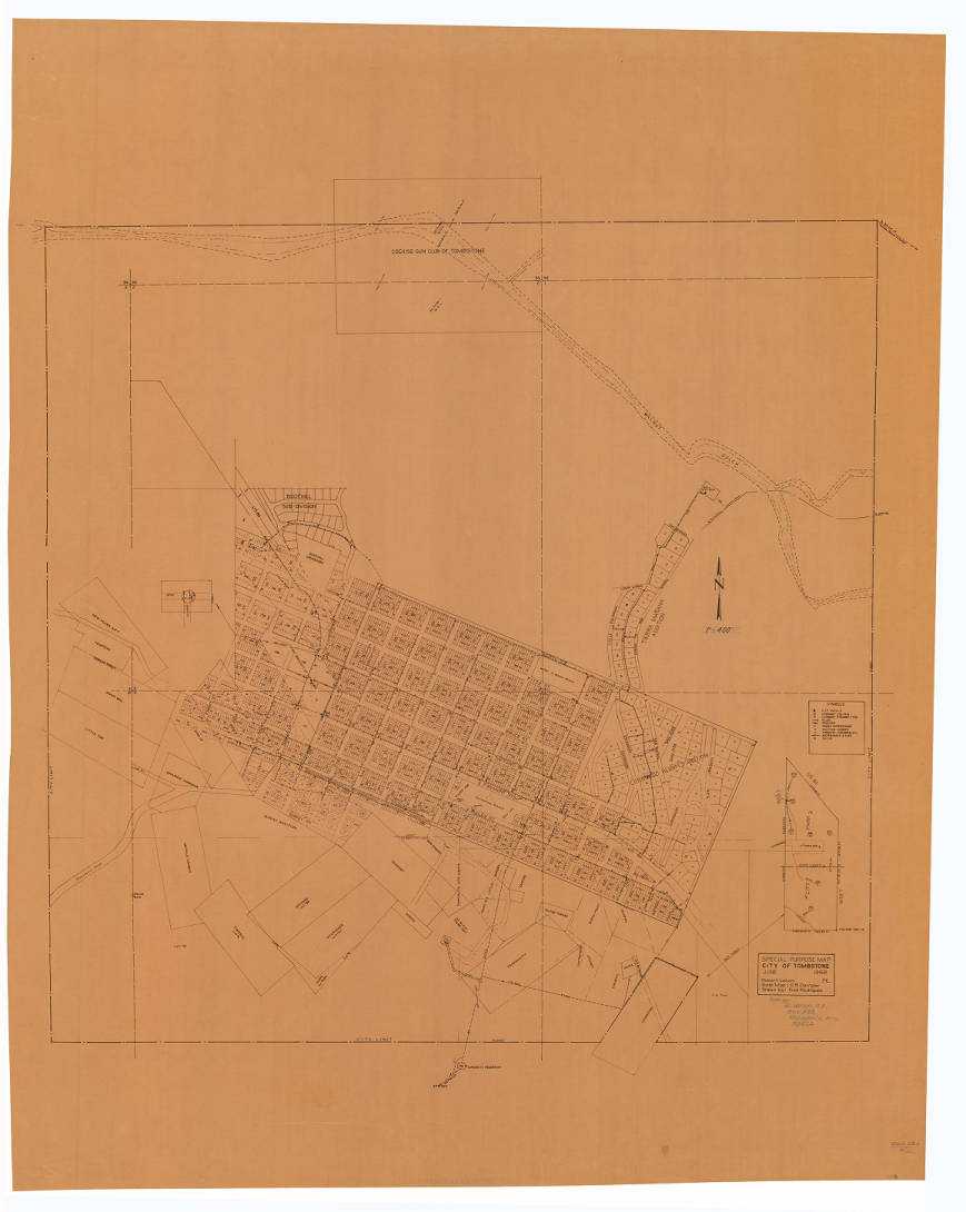 Special Purpose Map, City of Tombstone, 1968 - Robert Lenon ...