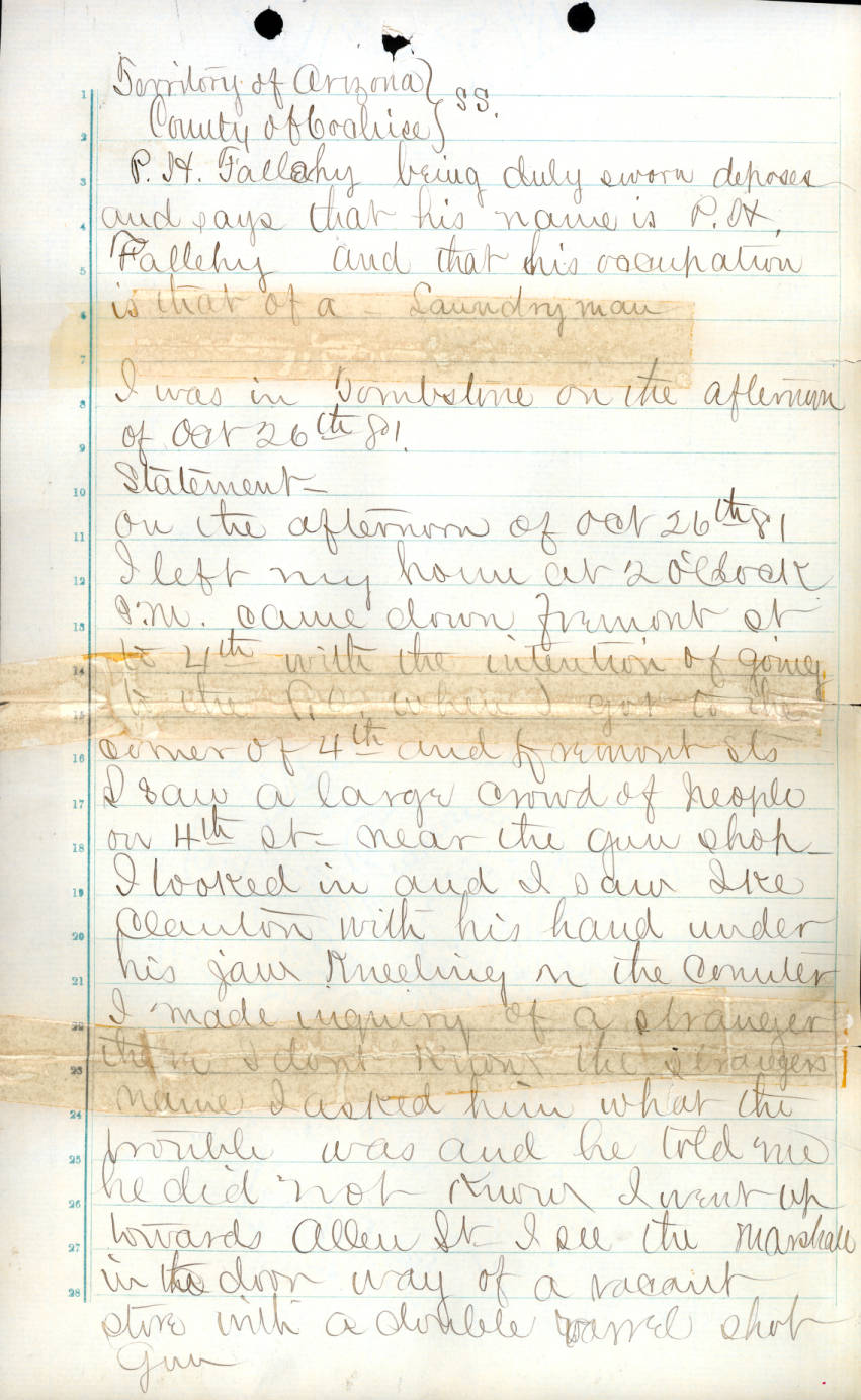 Cochise County Inquest 48 page 43 - Legal and Court History