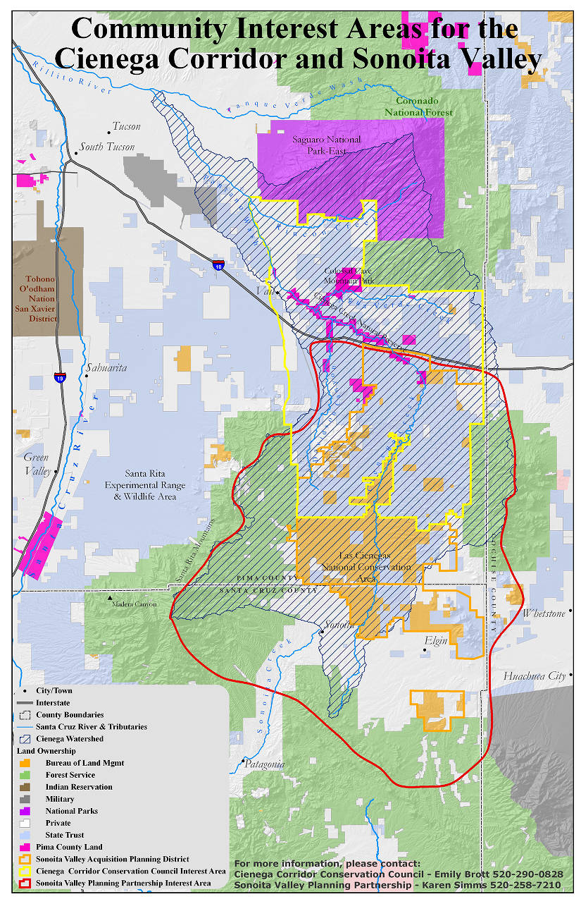 Map of Community Interest Areas, Cienega Watershed, Pima and ... Map Of Cities In Pima County Arizona on map of all counties in northern california, apache county arizona, downtown chandler arizona, map of city limits tucson az,