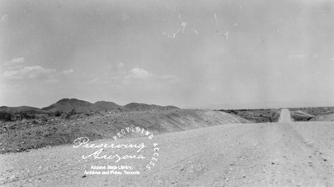 Photograph of the highway east of Willcox (Ariz ) at the