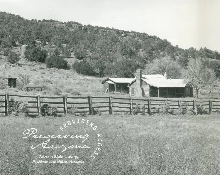 Photograph of the Isaac Clanton home in Cochise County (Ariz