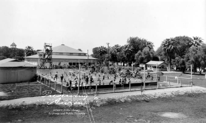 Photograph of the Riverside Park and swimming pool in Phoenix (Ariz ...