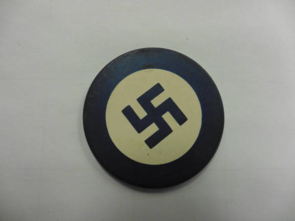 Blue Poker Chip - Artifacts from the Holocaust and Nazi