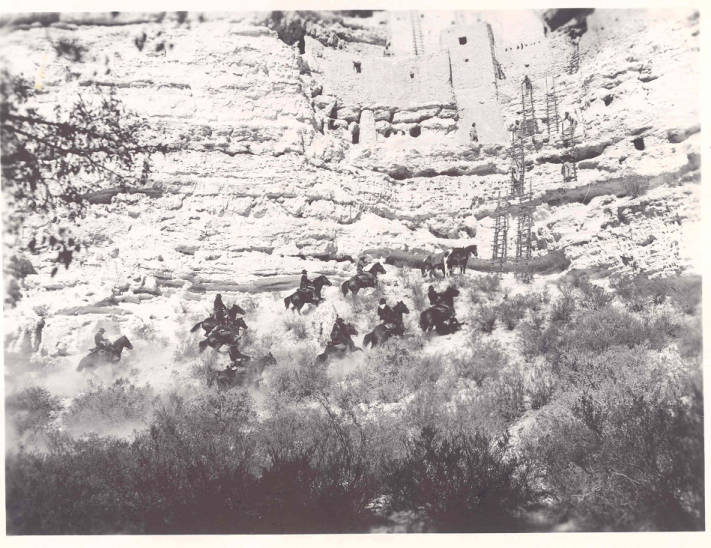 Movie Being Filmed In And Below Montezuma Castle Cliff Dwelling