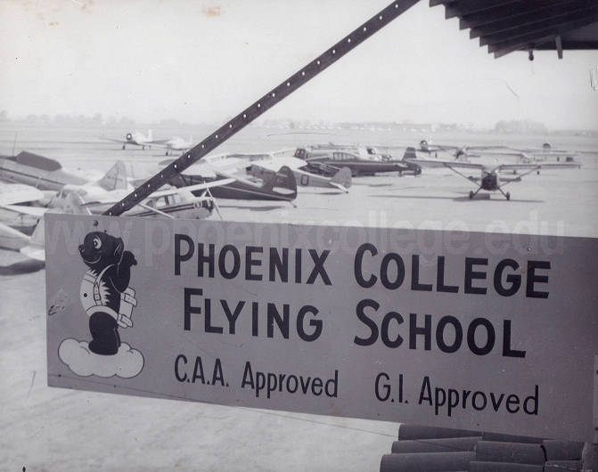 Phoenix College Flying School Sign Phoenix College The Early