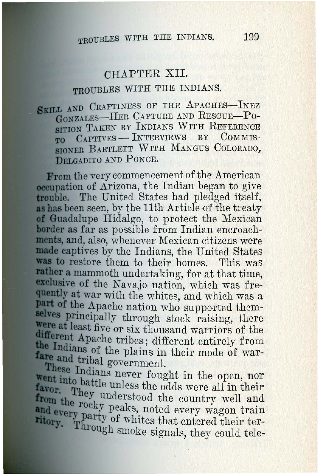 History of Arizona Vol 1 Ch 12 Troubles with Indians