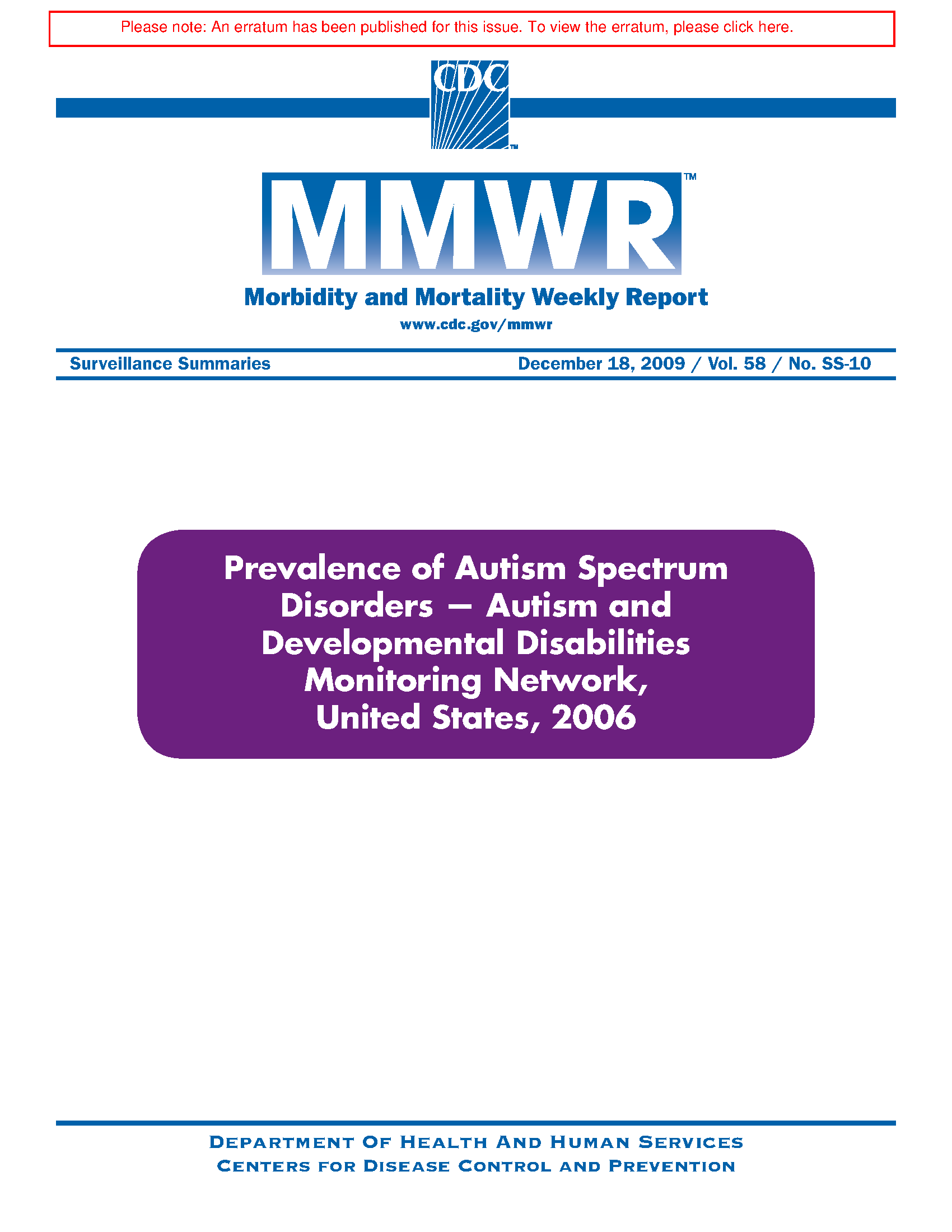 Cdc Says Developmental Disabilities Are >> Prevalence Of Autism Spectrum Disorders Autism And Developmental