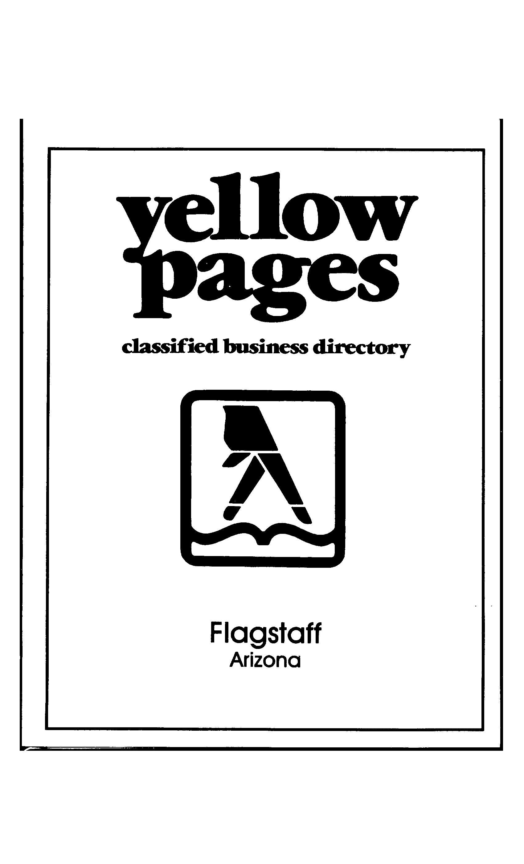 1986 flagstaff business directory flagstaff telephone and city