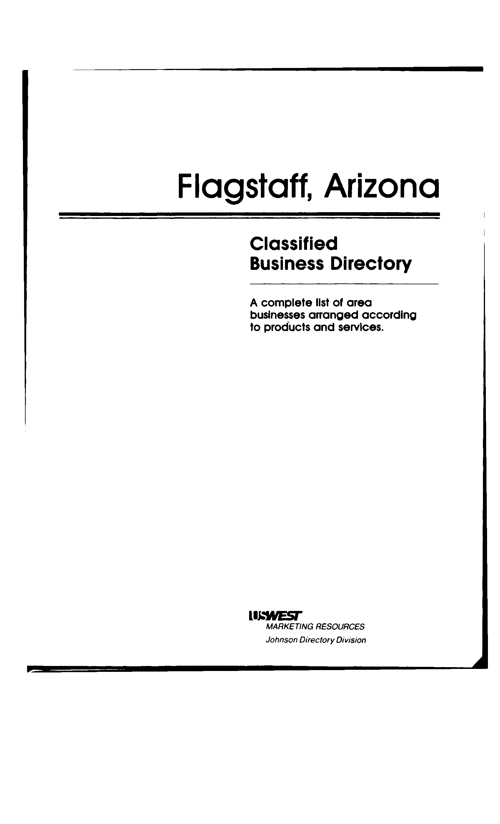 1988 Flagstaff Business Directory