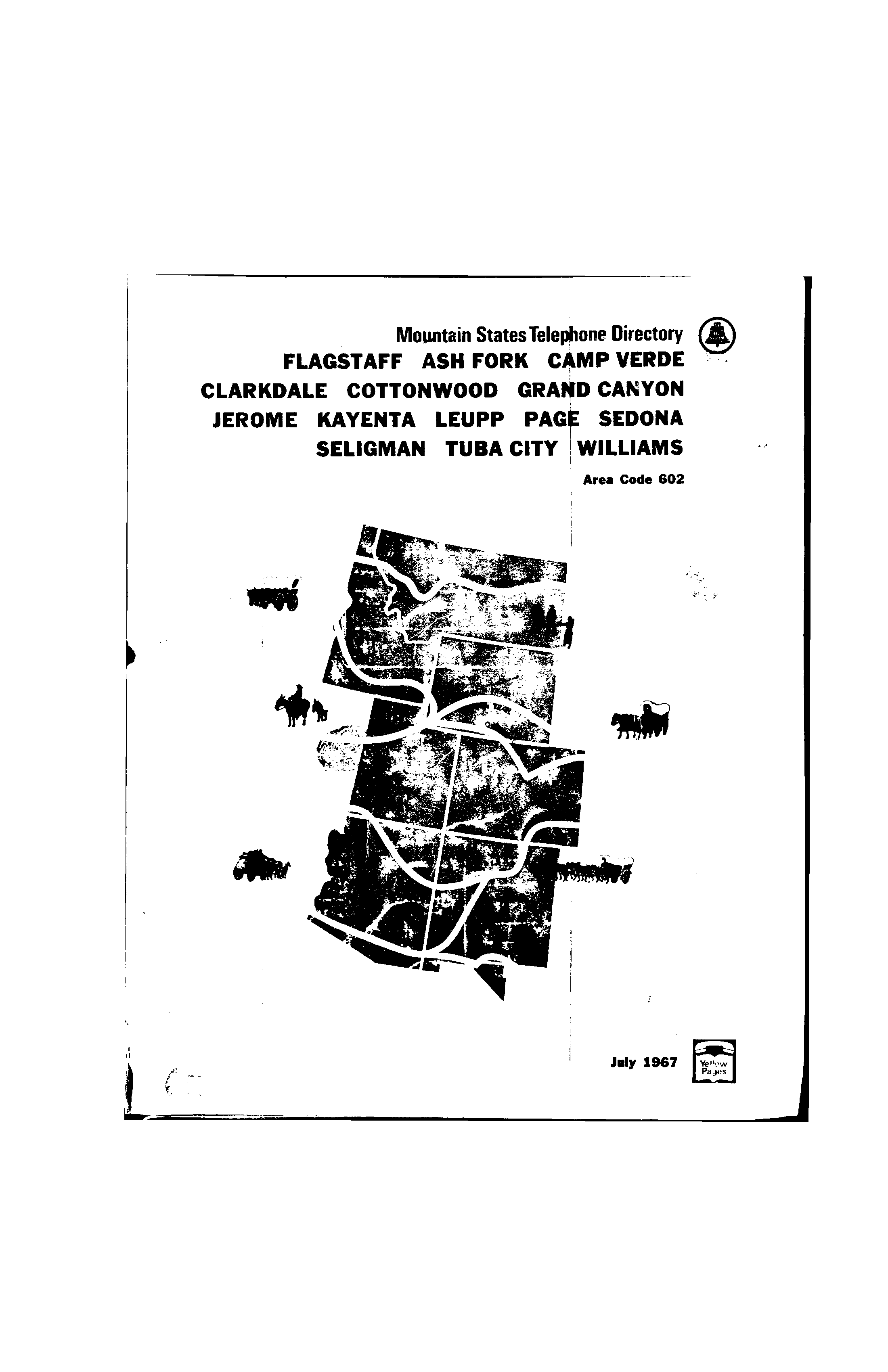 1967 Flagstaff Telephone Directory White Pages - Flagstaff