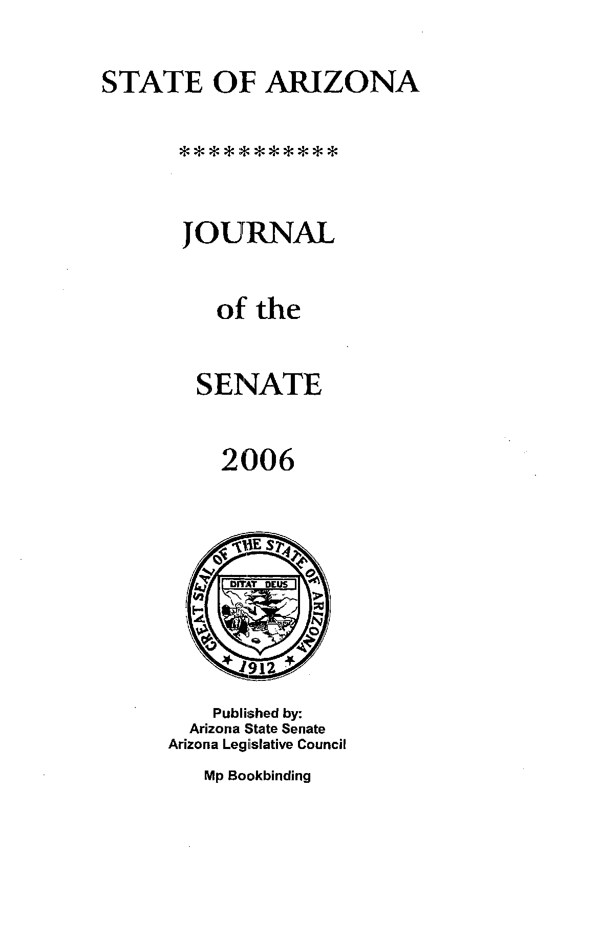 Journal of the Senate, State of Arizona, 2006, Forty-Seventh ... on