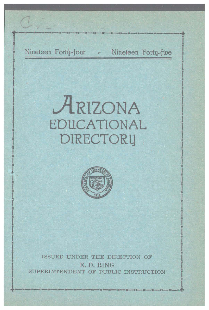 Arizona educational directory 1944 - Arizona State