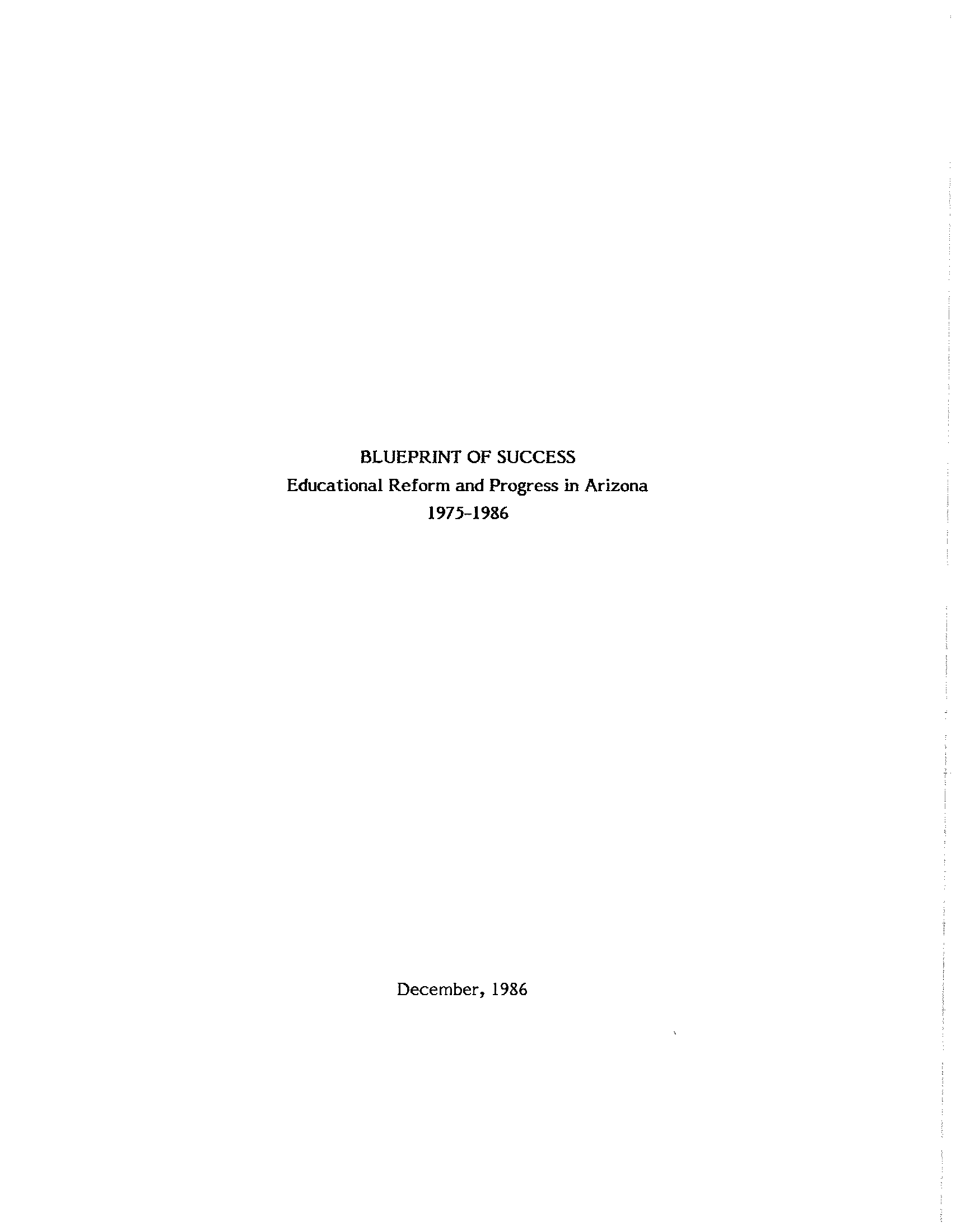 Blueprint of success educational reform and progress in arizona blueprint of success educational reform and progress in arizona 1975 1986 malvernweather Gallery