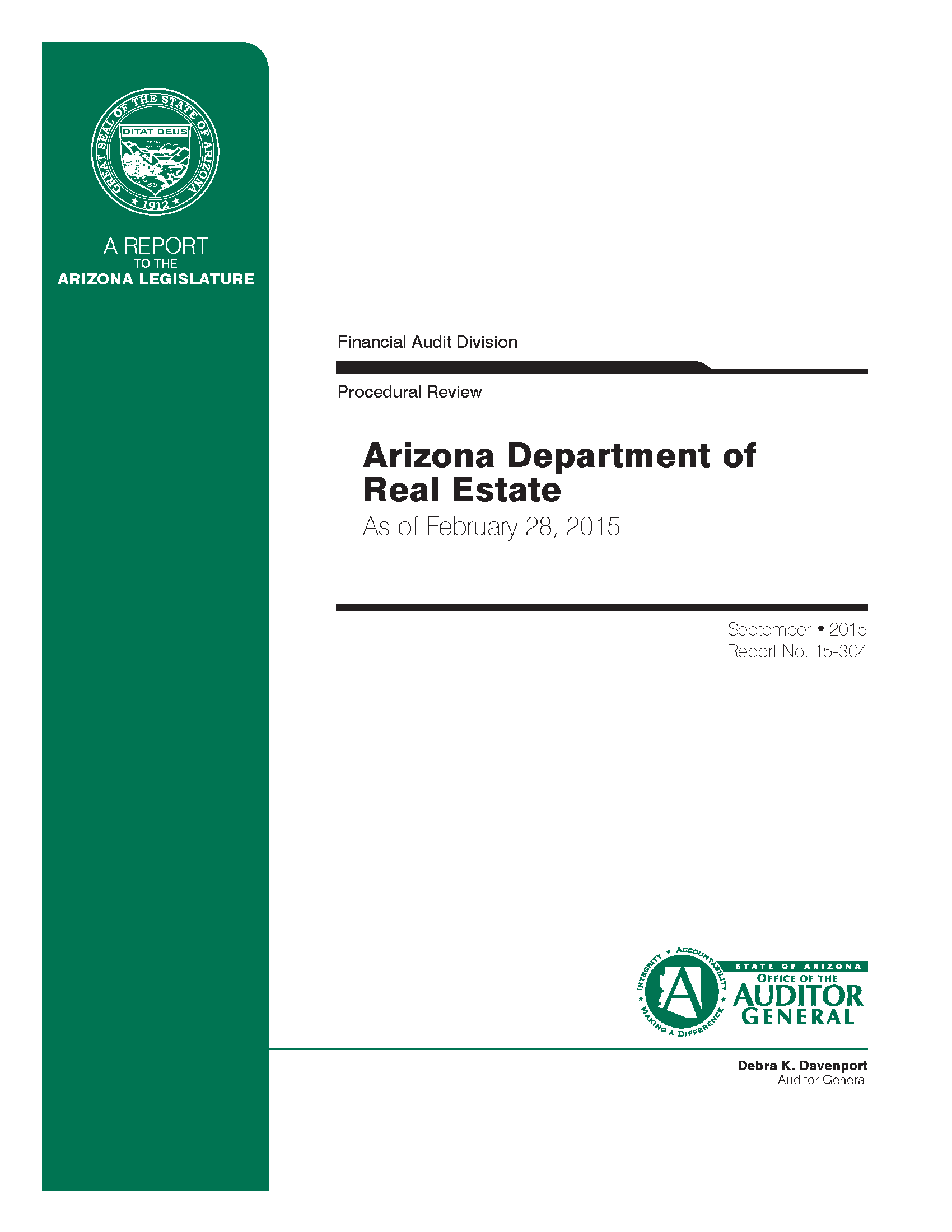 Arizona Department of Real Estate : Procedural Review