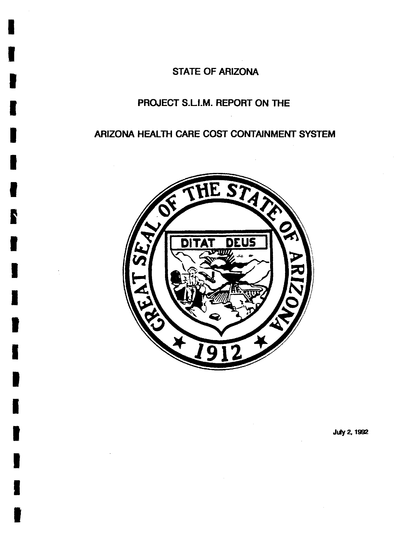 state of arizona project s l i m report on the arizona health care Ford SVT state of arizona project s l i m report on the arizona health care cost containment system