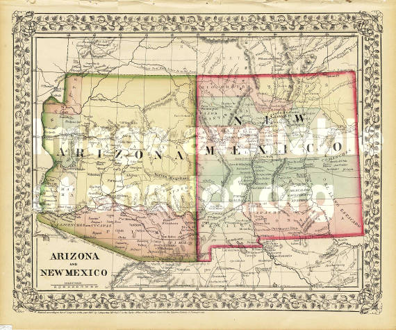 Arizona and New Mexico - Sharlot Hall Museum Map Collection ...