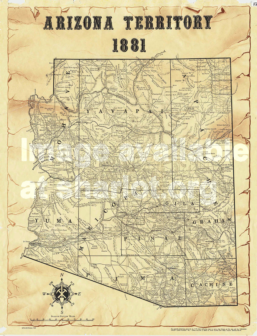 Arizona Territory, 1881 - Sharlot Hall Museum Map Collection ...