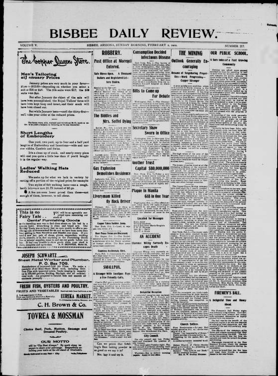 Bisbee daily review, 1902-02-02 - Bisbee Daily Review