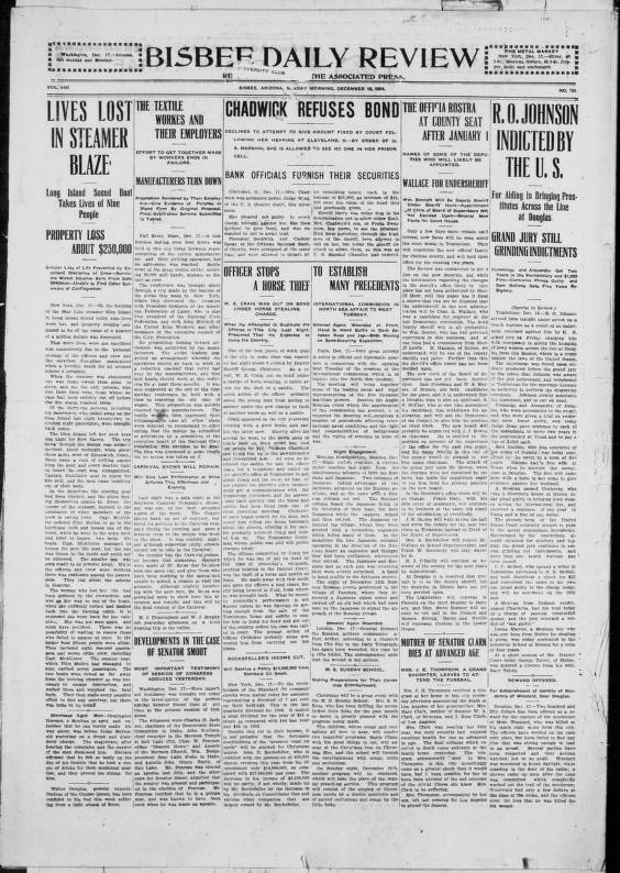 Bisbee daily review, 1904-12-18 - Bisbee Daily Review - Arizona