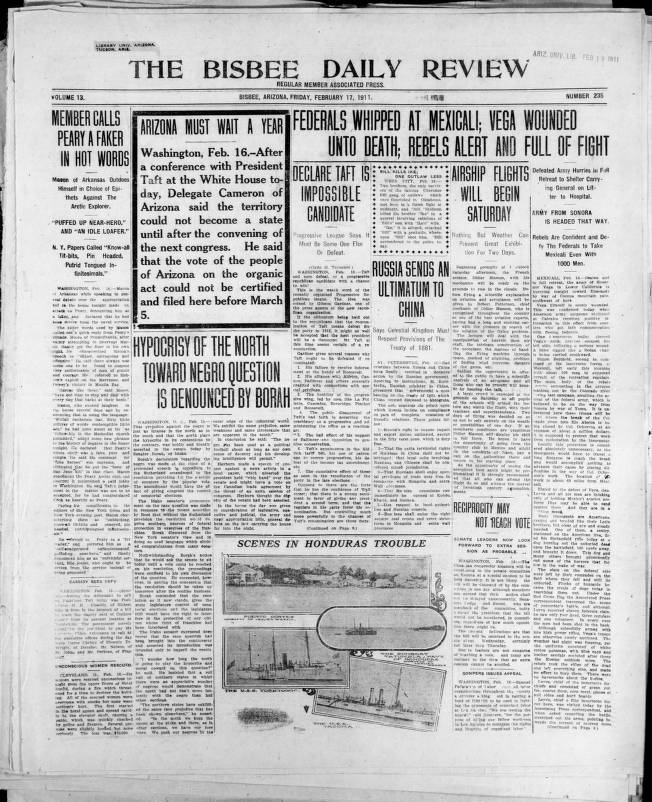 The Bisbee daily review, 1911-02-17 - Bisbee Daily Review