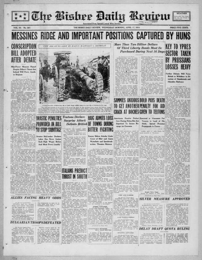 Bisbee daily review, 1918-04-17 - Bisbee Daily Review