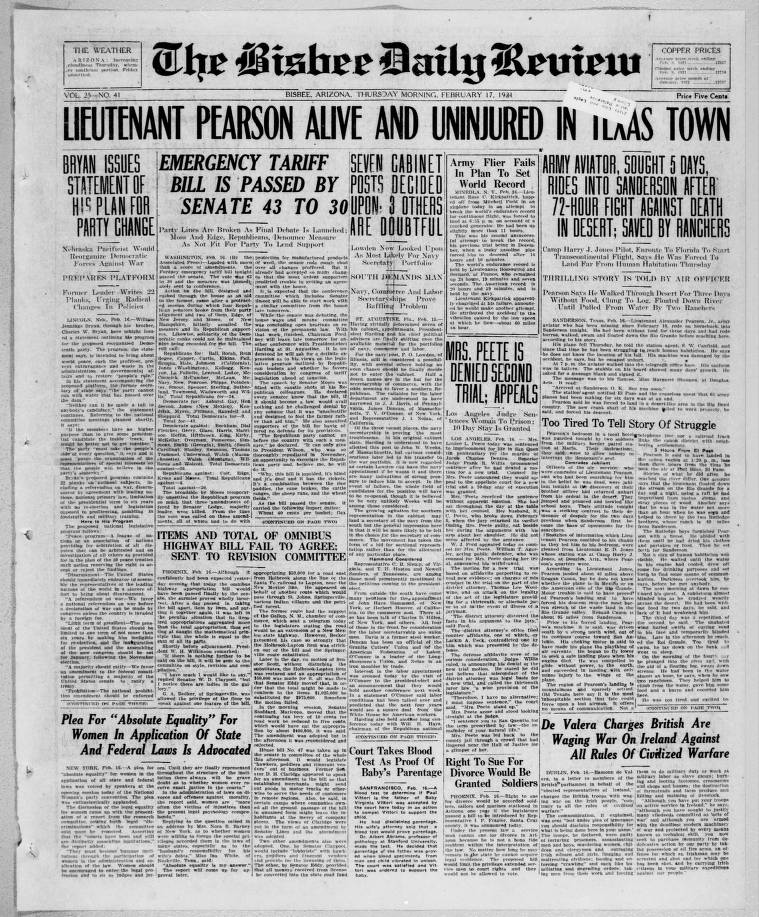 Bisbee daily review, 1921-02-17 - Bisbee Daily Review - Arizona