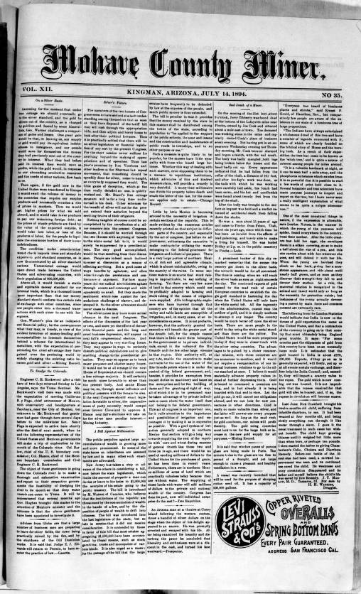Mohave County miner, 1894-07-14 - Mohave County Miner