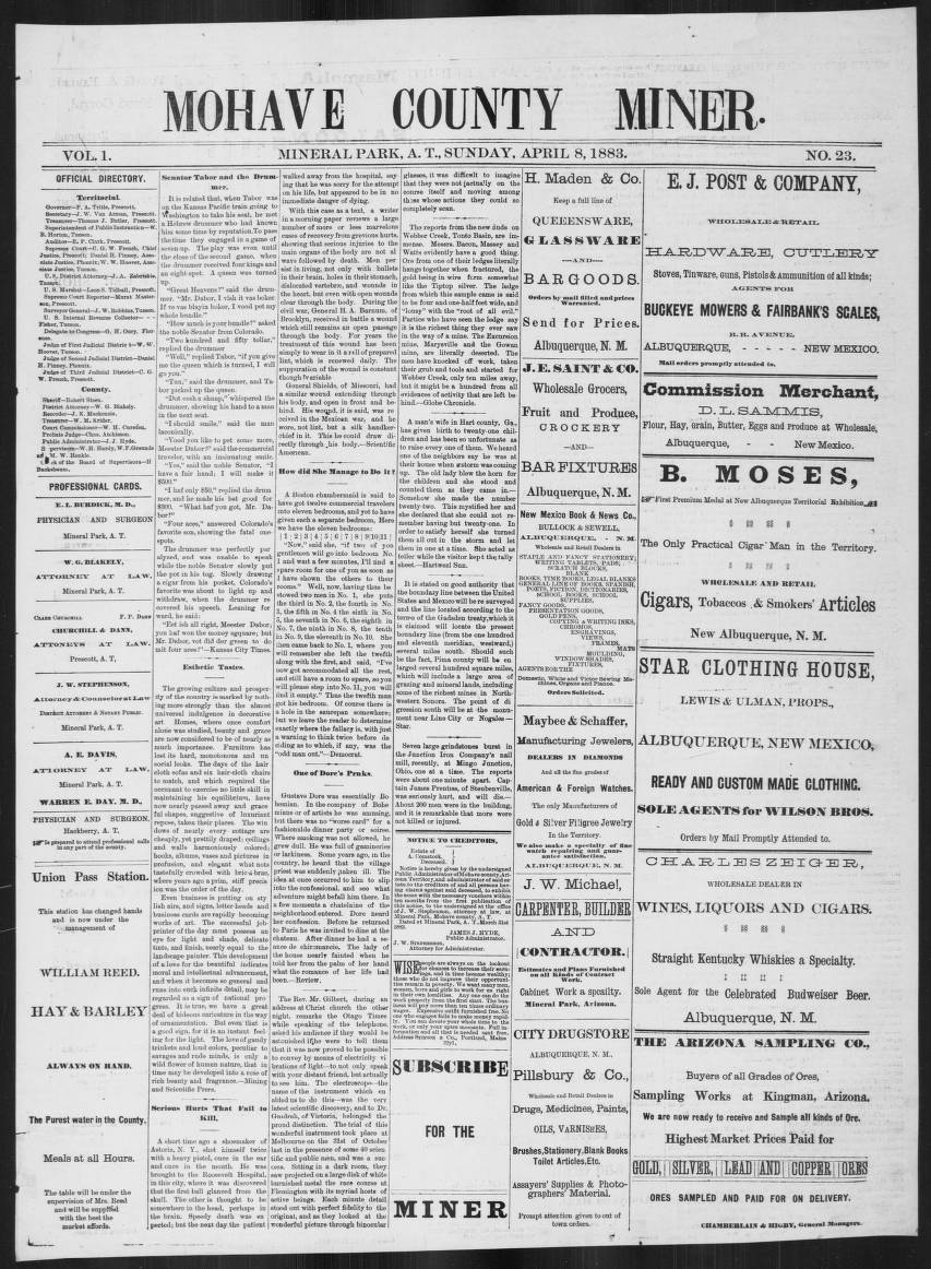 mohave county miner, 1883-04-08 - mohave county miner - arizona