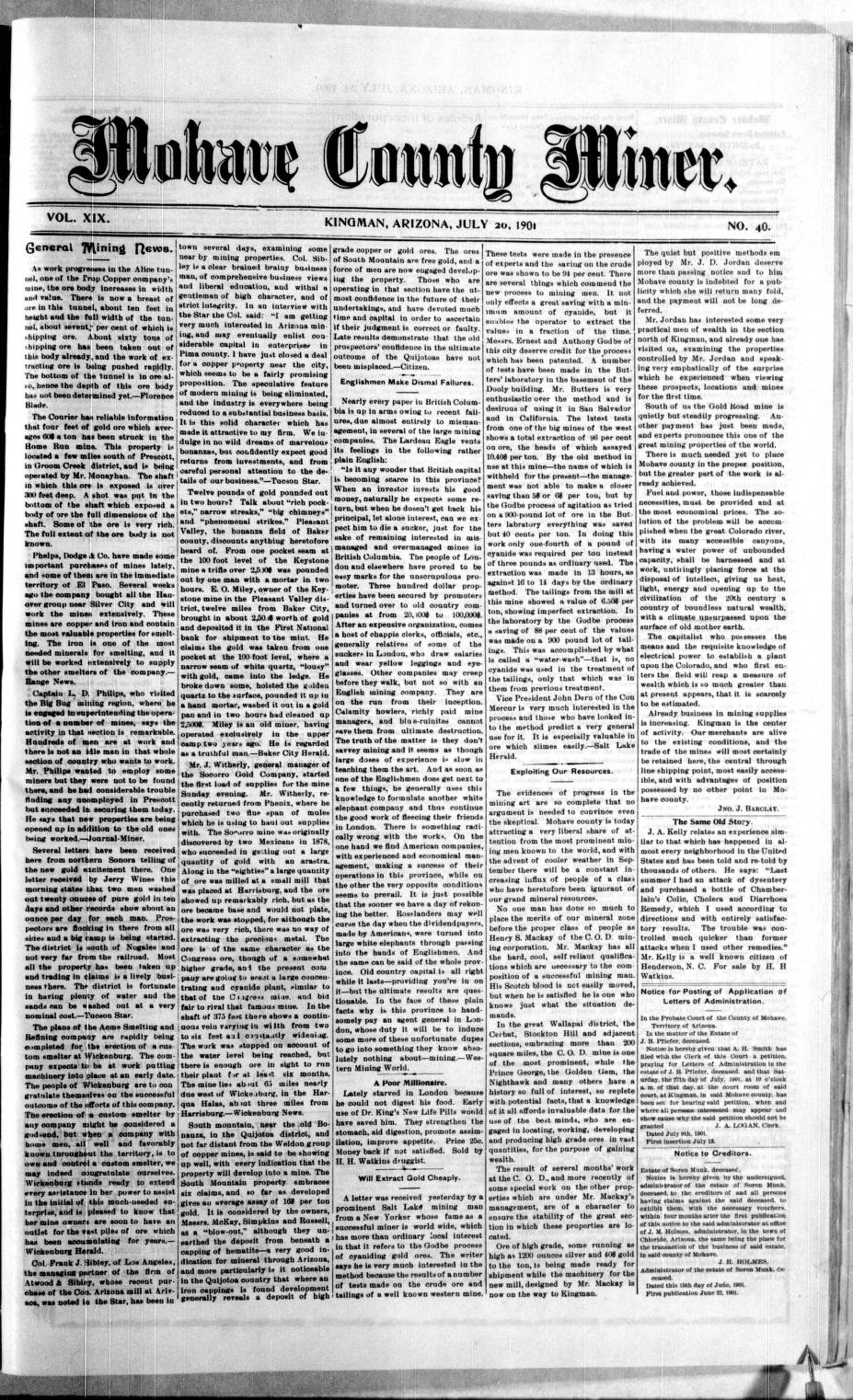 Mohave County miner, 1901-07-20 - Mohave County Miner