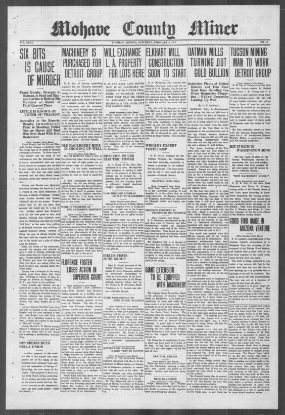Mohave County miner, 1917-02-03 - Mohave County Miner