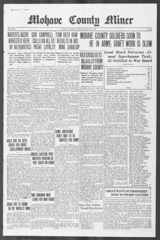 Mohave County miner, 1917-08-25 - Mohave County Miner