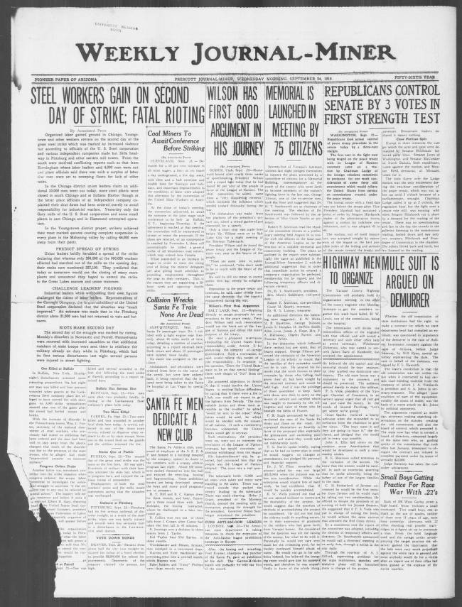Weekly Journal Miner 1919 09 24 Weekly Journal Miner