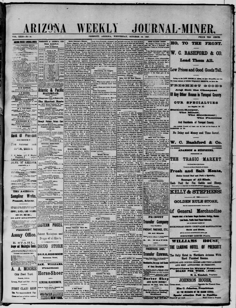 Arizona weekly journal-miner, 1887-10-19 - Arizona Weekly