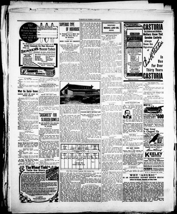 Tombstone Epitaph 1916 01 30 WEEKLY EDITION Tombstone