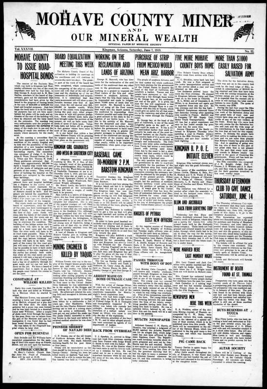 Mohave County miner and our mineral wealth, 1919-06-07