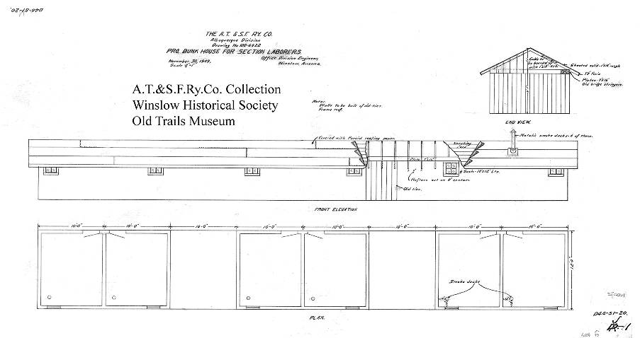 diagram of bunkhouse bunk house for section laborers atchison  topeka   santa fe  bunk house for section laborers
