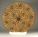 Closed Coil Winnowing Basket with Geometric Design