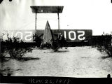 Wreckage of Lockheed biplane at Gila Bend