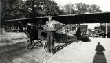 Louis Gay with his home-built plane near Glendale