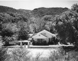 Carter homestead in Wagoner area south of Prescott. The Hassayampa River flows beneath trees in...