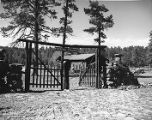 Entrance gate, Foxboro Ranch, south of Flagstaff (Kel Fox)