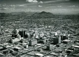 Aerial View of Downtown Phoenix, Arizona Looking East