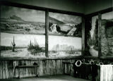Arizona Scenes Display Painted by David Carrick Swing  at the Arizona Exhibit in the Hall of...