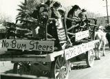 University of Arizona Rodeo.  Students on a Parade Float