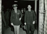 Governor Sidney Osborn with a Military Official at Fort Huachuca, Arizona