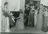 Unknown Pianist with a Singer at a KOY Radio Microphone at a Reception for Hollywood Actor William...