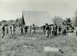Arizona National Guard Constructing a Tent at the Arizona State Prison