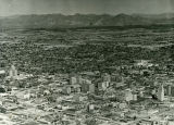 Aerial View of Phoenix, Arizona from Downtown Looking Northeast