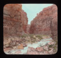 Supai red sandstone in Hualapai Canyon.